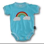 SIZE 00 Handmade Baby Bodysuit... Rainbow