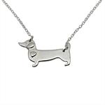 Sausage Dog Pendant Necklace