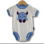 SIZE 0 Handmade Baby Bodysuit... Fluffy Monster