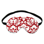 Red and White Floral Scroll Sleep Eye Mask