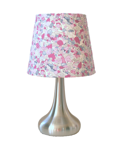 purple fabric lampshade lamp base small tapered shade. Black Bedroom Furniture Sets. Home Design Ideas