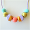 Girls Adjustable Necklaces - Gold , Mint , Coral & purple