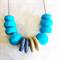 Belize - Blue Clay Pod Necklace