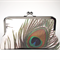 Clutch Purse - Peacock Feather/ bridal clutch/bridesmaids clutch