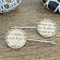 Jane Eyre Bobby Pin Set Vintage Book Page Text Silver Mr Rochester Bronte