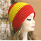 AFL Gold Coast Suns Football Beanie, Wool Crochet GW Suns Hat in Red And Yellow