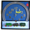 Wall Clock With Train Theme, Nursery Décor or Baby Shower Gift, First Birthday