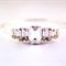Silver swarovski crystal stacker bangle