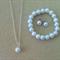 Little Girl Pearl Jewelry Set - Necklace, Bracelet, Studs, Flowergirl Gift