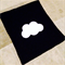 Cloud Monochrome Baby Blanket Black and White