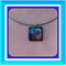 Glass Tile Necklace - Swirl Tree