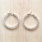 SMALL CLEAR COLOUR BASICS HOOP EARRINGS - FREE SHIPPING WORLDWIDE