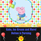 Peppa Pig-George & Balloons Digital Party Invitation