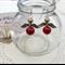 Gold Red Christmas Angel Earrings Handmade OOAK  by Top Shelf