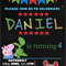 Peppa Pig-George-chalkboard Digital Party Invitation