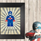 Captain America Lego A4 print.  Personalised with name FREE.
