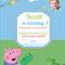 Peppa Pig-George & Friends Digital Party Invitation