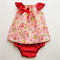 Size 00 Red Riding Hood Top + Nappy Cover Combo