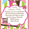 Look Whoo's Birthday- green stripes - Digital Party Invitation