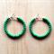 SMALL GREEN COLOUR BASICS HOOP EARRINGS - FREE SHIPPING WORLDWIDE