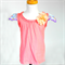 Apricot Top with Floral Sleeves & Flower Embellishment - Size 4