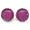 STUD EARRINGS- Purple polka dots