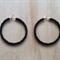 LARGE BLACK COLOUR BASICS HOOP EARRINGS - FREE SHIPPING WORLDWIDE
