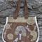 Bold Chocolate Handbag Shabby Chic Hessian 1 Only