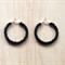 SMALL BLACK COLOUR BASICS HOOP EARRINGS - FREE SHIPPING WORLDWIDE