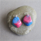 Christmas Bauble Resin Earrings Handmade Green and Red - Christmas Jewellery