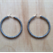 LARGE GREY (TRANSPARENT) COLOUR BASICS HOOP EARRINGS - FREE SHIPPING WORLDWIDE