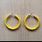 SMALL YELLOW COLOUR BASICS HOOP EARRINGS - FREE SHIPPING WORLDWIDE