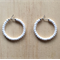 SMALL WHITE COLOUR BASICS HOOP EARRINGS - FREE SHIPPING WORLDWIDE