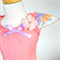 Apricot Top with Floral Sleeves & Flower Embellishment - Size 1