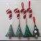 Handmade Felt Christmas Decorations 8 pk