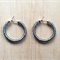 SMALL GREY (TRANSPARENT) COLOUR BASICS HOOP EARRINGS - FREE SHIPPING WORLDWIDE