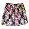 Ladies Gathered Tea Skirt Navy Blue with Pink Flowers - Size XXL