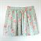 Ladies Gathered Mini Skirt Soft Blue Floral - Size XL