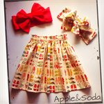 "Sweet ""BONNIE"" Skirt featuring Christmas slippers"