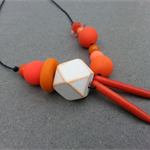 Bold Polymer Clay Geometric Necklace