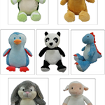 Gorgeous personalised animal plush teddies