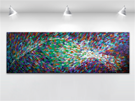 XXL Original abstract painting on canvas - 50x152cm MADE2ORDER