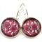 LEVER BACK EARRINGS- Mauve flower chain