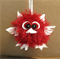 Plush Toy, Knitted Amigurumi, Nursery Baby Shower Gift, Fluffy Soft Red Toy Owl