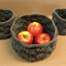 Crochet Storage, Set of 3 Tall Round Catchall Bowls, Home Decor Baskets Handmade