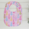 Pink, blue, green and purple Christmas tree design bib