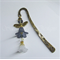 Grey Angel - Antique Gold Metal Bookmark