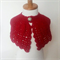 Red riding hood cape Christmas capelet Baby shrug crochet wool knit