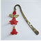 Red Angel - Antique Gold Metal Bookmark