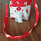 Kids Bag - Cream Red Red Reindeers